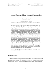 Model-Centered Learning and Instruction