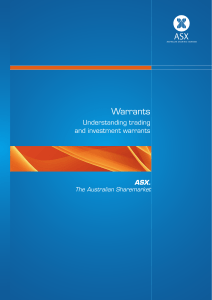 ASX Understanding Trading and Investment Warrants