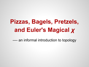 Pizzas, Bagels, Pretzels, and Euler`s Magical χ
