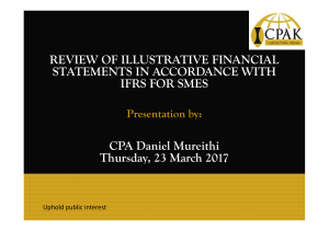 REVIEW OF ILLUSTRATIVE FINANCIAL STATEMENTS IN