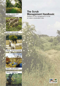 The Scrub Management Handbook - Natural England publications