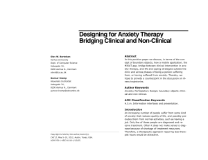 Designing for Anxiety Therapy Bridging Clinical and Non