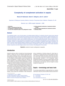 Complexity of complement activation in sepsis