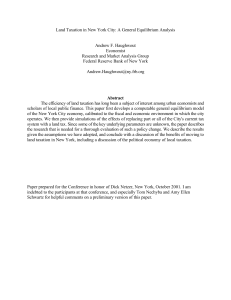 Land Taxation in New York City: A General Equilibrium Analysis