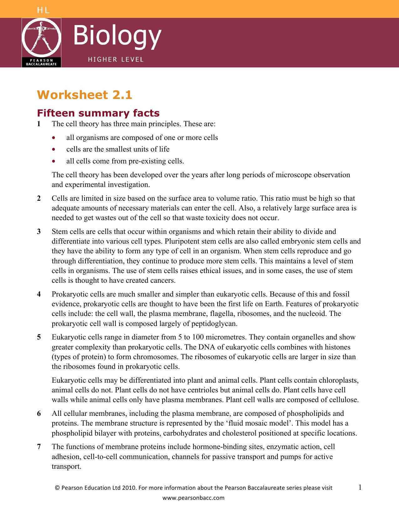 Worksheet 2 1 - contentextra