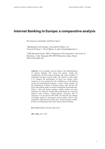 Internet Banking in Europe: a comparative analysis