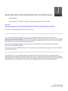 Beyond Temperament: Non-Keyboard Intonation in the 17th and