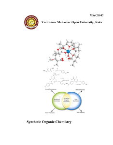 Synthetic Organic Chemistry - Name