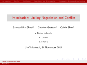 Intimidation: Linking Negotiation and Conflict