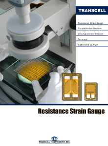 Strain Gage - Transcell Technology