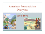 American Romanticism Overview - Kimberlin-dhs