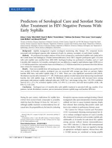 Predictors of Serological Cure and Serofast State