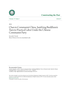 Chan in Communist China: Justifying Buddhism`s Turn to Practical