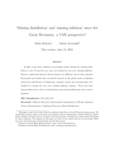 `Missing disinflation` and `missing inflation` since the Great Recession