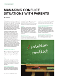 managing conflict situations with parents