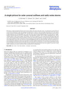 A single picture for solar coronal outflows and radio noise storms