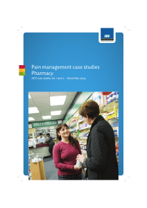 Pain management case studies Pharmacy