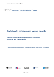Sedation in children and young people