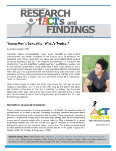 Young Men`s Sexuality: What`s Typical?