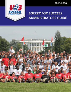 Soccer for SucceSS AdministrAtors Guide