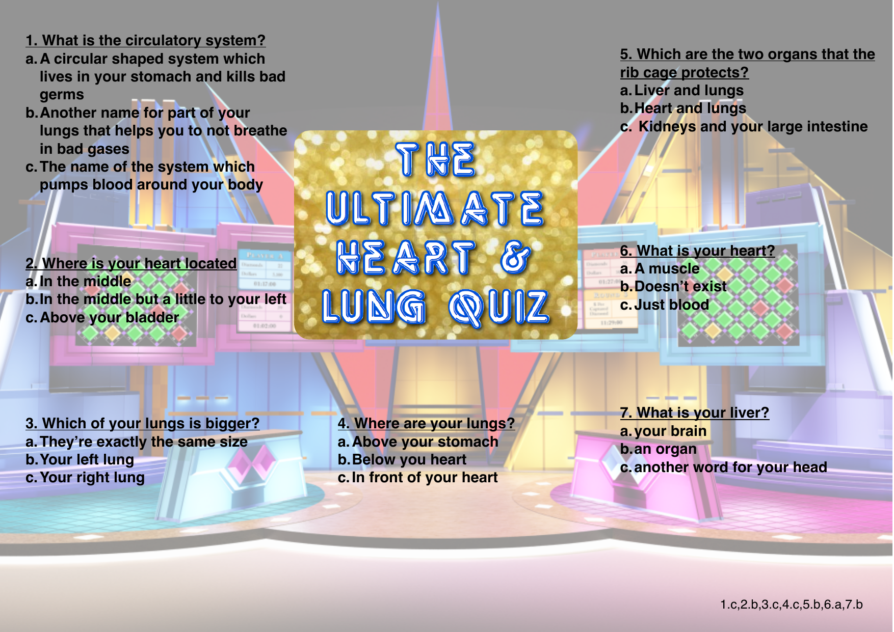 1 What Is The Circulatory System Bedlington Station Primary School