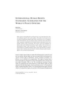 international human rights standards: guidelines for the world`s