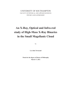 An X-Ray, Optical and Infra-red study of High-Mass X