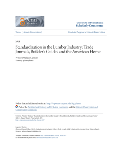 Standardization in the Lumber Industry: Trade