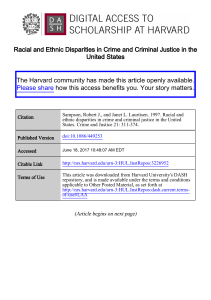Racial and Ethnic Disparities in Crime and Criminal Justice in the