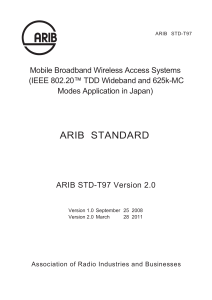 Mobile Broadband Wireless Access Systems (IEEE 802.20. TDD