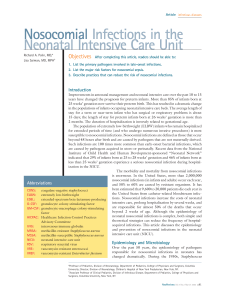 Nosocomial Infections in the Neonatal Intensive Care Unit