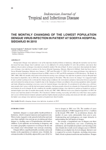 THE MONTHLY CHANGING OF THE LOWEST POPULATION