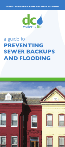 a guide to PREVENTING SEWER BACKUPS AND