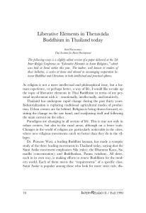 Liberative Elements in Therav綸a Buddhism in Thailand today