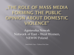 The role of mass media forming the public opinion about domestic
