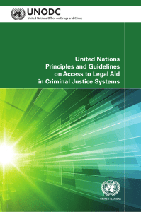 United Nations Principles and Guidelines on Access to Legal Aid in