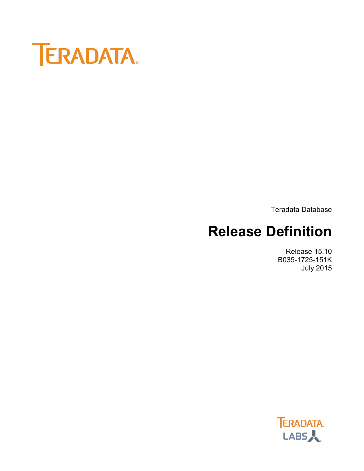 Release Definition - Information Products