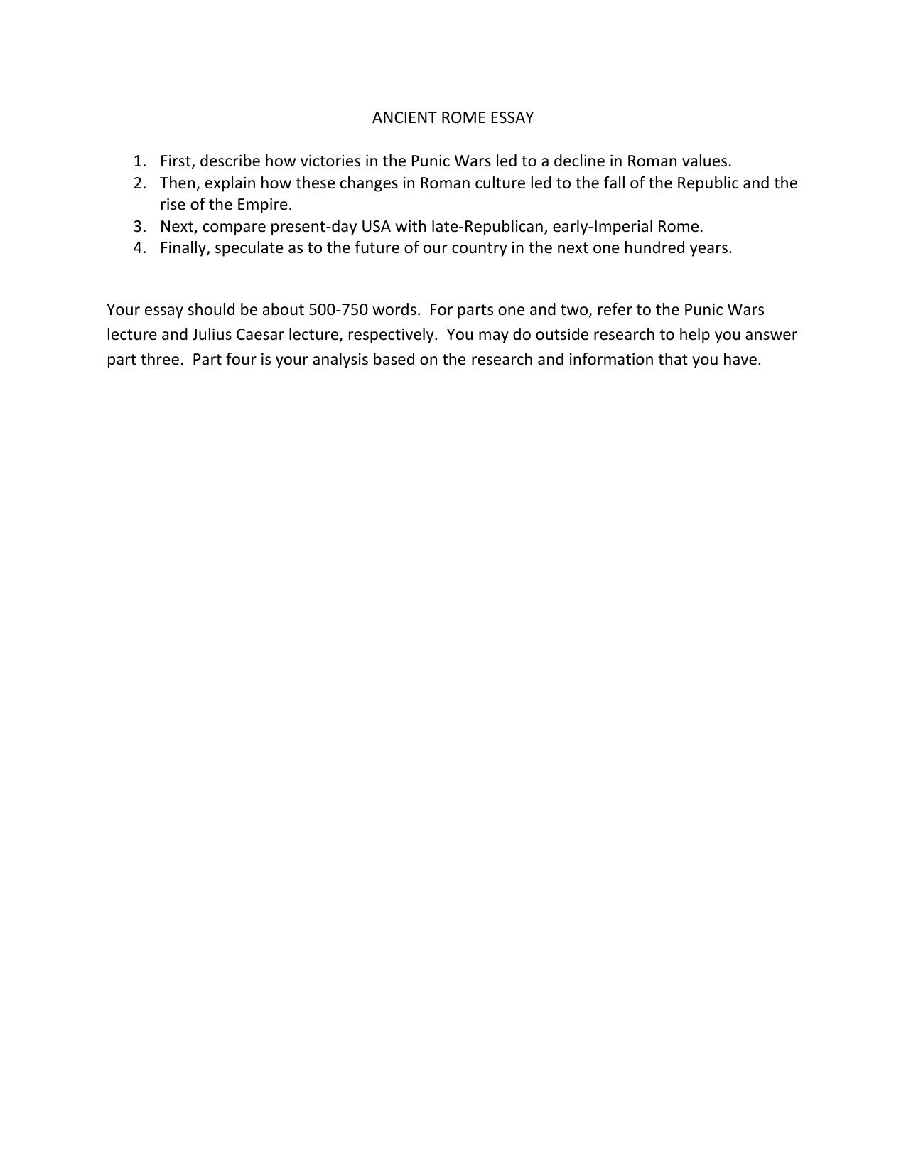 rome description essay