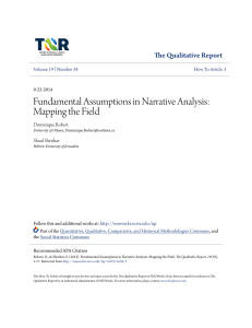 Fundamental Assumptions in Narrative Analysis