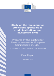 Study on the remuneration provisions applicable to credit institutions
