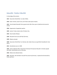 Italy profile – Timeline, 5 May 2015
