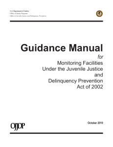 Guidance Manual for Monitoring Facilities Under the