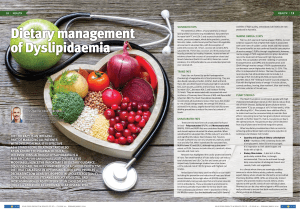 Dietary management of Dyslipidaemia