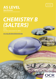 OCR AS Level Chemistry B (Salters) H033