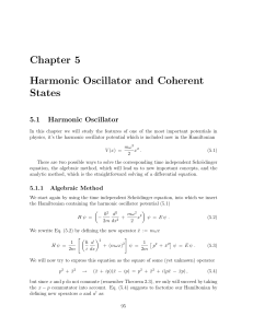 Chapter 5 Harmonic Oscillator and Coherent States