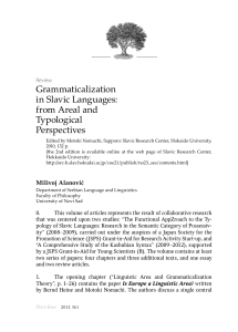Slověne. Vol. 1. No. 1. Review of GRAMMATICALIZATION IN