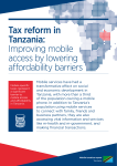 Tax reform in Tanzania: Improving mobile access by lowering
