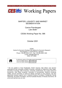 Working Papers - CESifo Group Munich