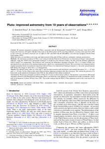 Pluto: improved astrometry from 19 years of observations ⋆⋆⋆⋆⋆⋆