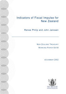 Indicators of Fiscal Impulse for New Zealand
